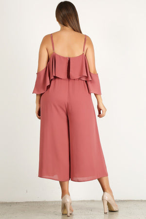 Solid Slay Wide Leg Jumpsuit