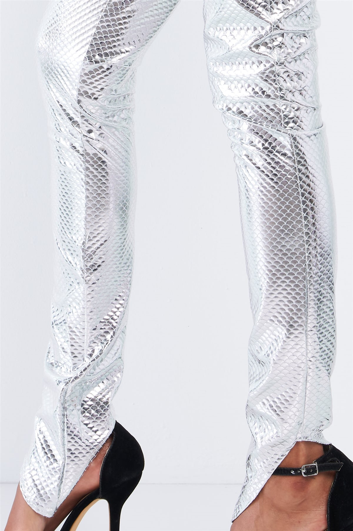 Metallic Scales Slim Fit 2PC Legging Set