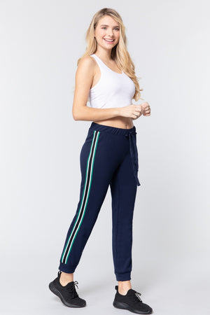 French Terry Side Stripe Pants