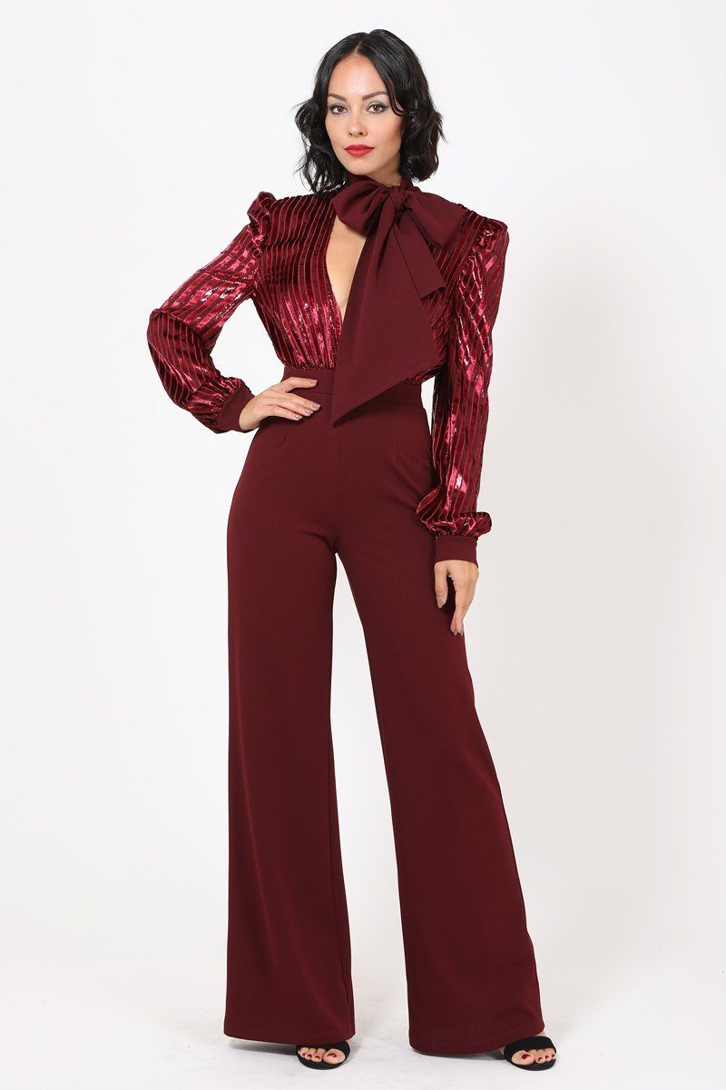 Flared Leg Jumpsuit