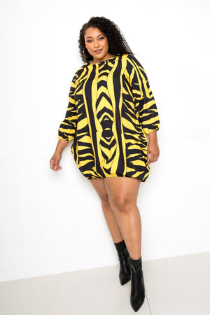 Zebra Print Bubble Hem Dress