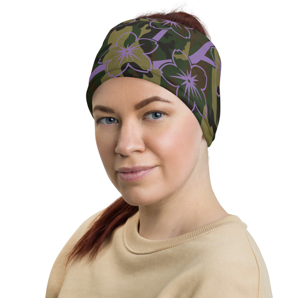 slaythedaybydcole,Versatile Camo Flower Neck Gaiter,Slay The Day By D Cole,