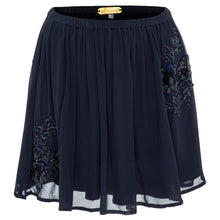 Mia Mini (navy) - playful georgette mini skirt hand beaded