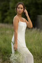 Gia Dress (ecru) - Luxury velvet and georgette design, perfect bridal piece