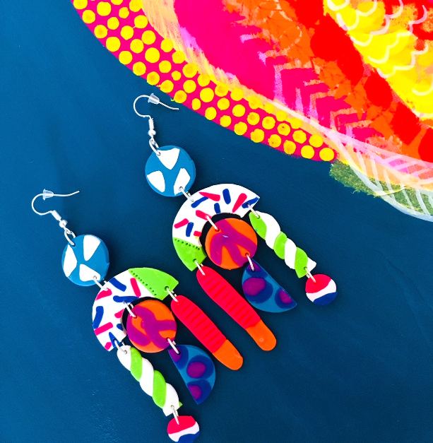 'Candy Sprinkle' - Long Dangles