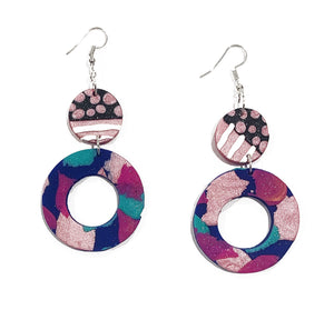 Evelyn donut drop earrings