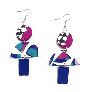 Evelyn trio drop earrings