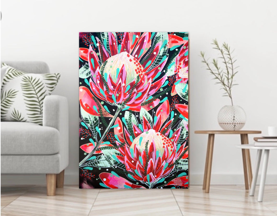 Red Protea Cropped print