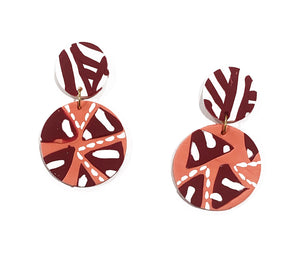 Mali circle drop earrings