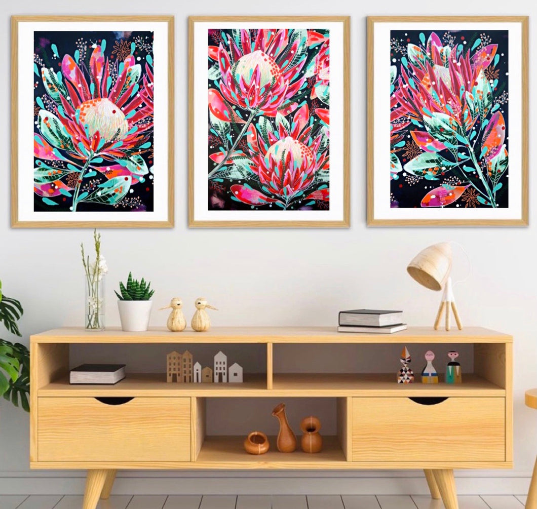 For the love of proteas- Print set