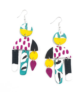 Shirin long drop earrings