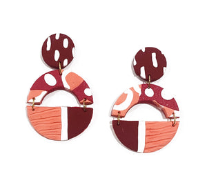 Mali semi circle drop earrings