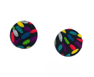 Fireworks large stud earrings
