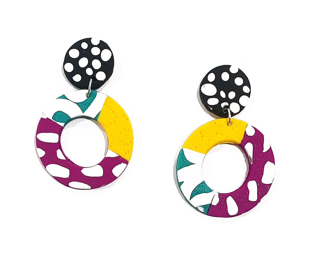 Shirin donut drop earrings