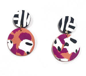 Millah circle drop earrings