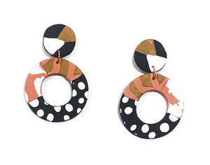 Zara donut drop earrings