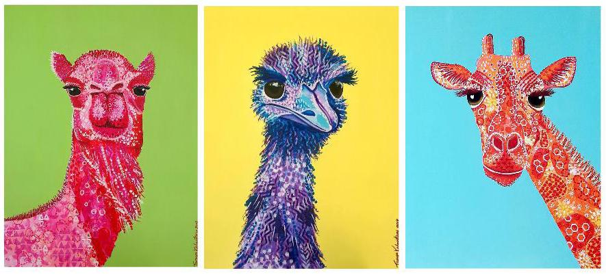 'Stretchy Necks' Collection of three originals