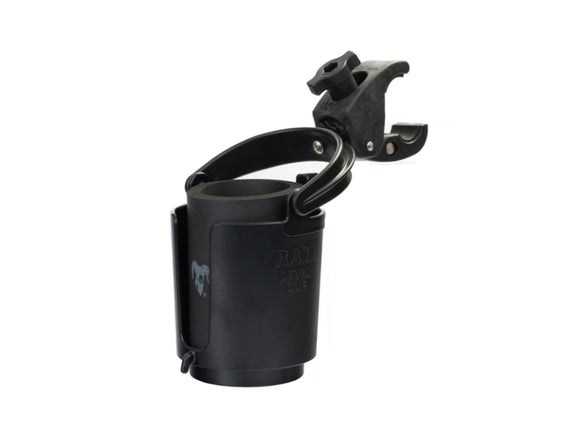 RAM-B-132-400U RAM Mounts Level Cup 16oz Drink Holder with RAM Tough-Claw Mount - Landloop