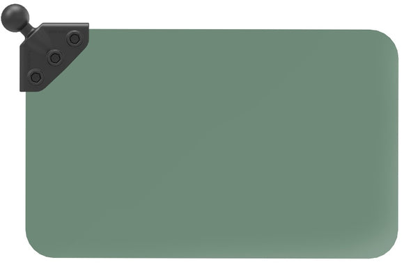 "RAP-393-G1U RAM Dark Green Sun Visor with 1"" Ball: 50% Tint"