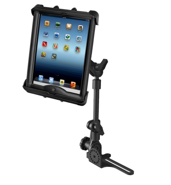 No-Drill RAM POD HD Car Suv Truck Mount Holder Kit fits Apple iPad 1 2 3 & 4 in Lifeproof or Lifedge Case - landloop