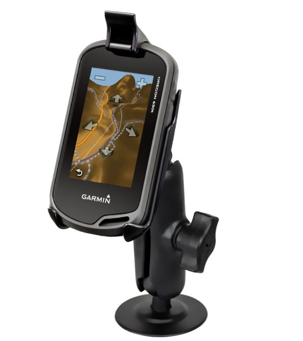 RAM Mounts Small Tough-Claw Rail Mount Holder for Garmin Approach G5 Oregon 200 300 400 450 550 600 & 650 - landloop