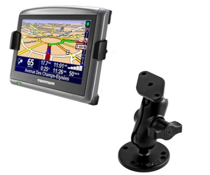 RAM Mounts SHORT Flat Surface Car Suv Center Console Mount Holder for TomTom ONE XL & XLS - Landloop