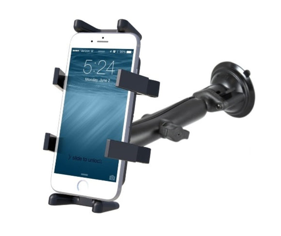 RAM Composite Long Arm Suction Cup Finger-Grip Mount for Cell Phones Smartphones - landloop