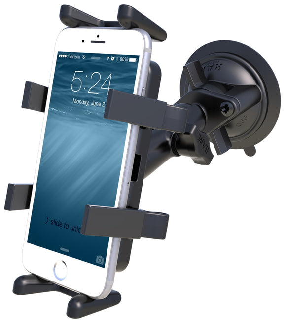 RAM-B-166-UN4U RAM Finger-Grip Universal Smartphone Mount with RAM Twist-Lock Suction Cup Base - landloop