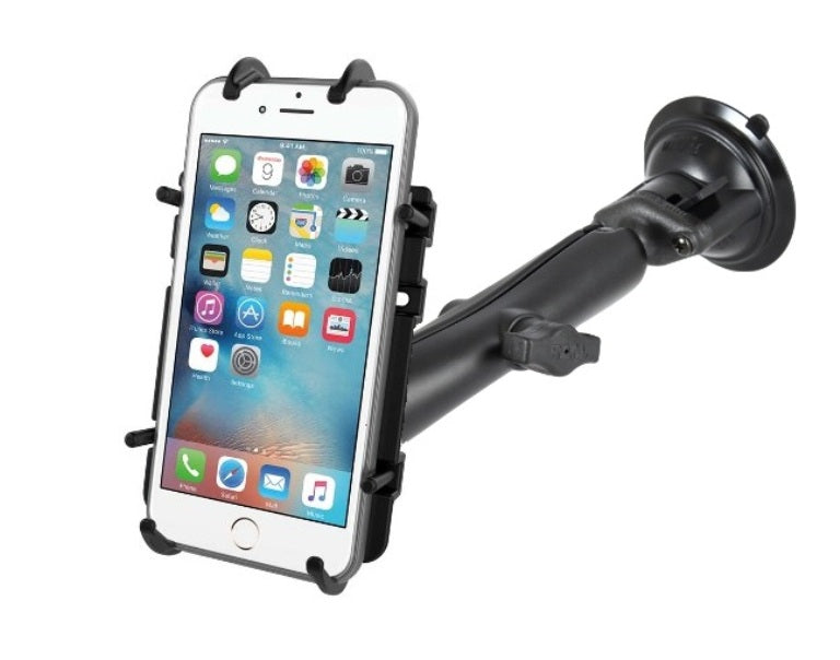 RAM Composite Long Arm Suction Cup Quick-Grip Mount for Cell Phones Smartphones - landloop