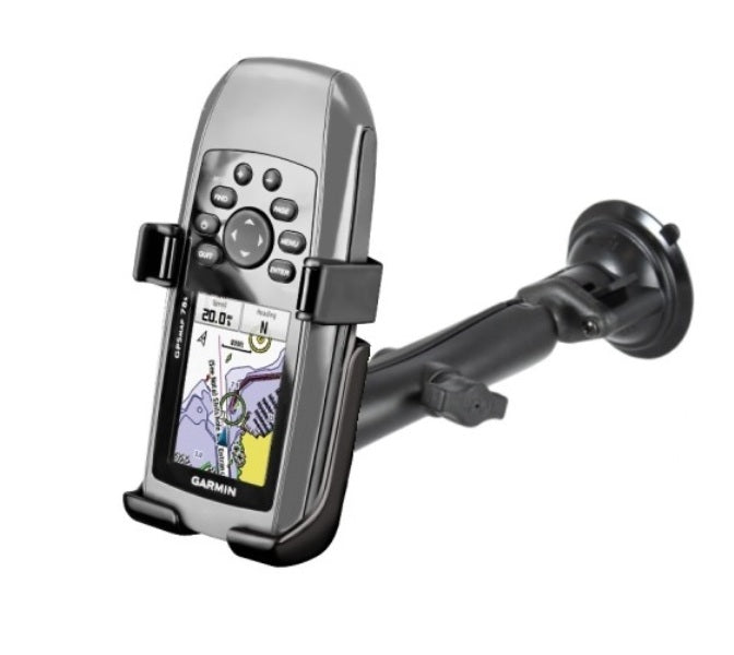 RAM Composite Long Arm Suction Cup Mount Holder for Garmin GPSMAP 73 78 78S & 78SC - landloop