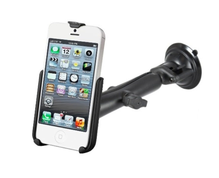 RAM Composite Long Arm Suction Cup Windshield Mount Kit for Apple iPhone 5 & 5s - Landloop