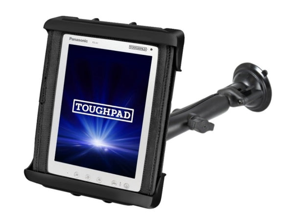 RAM Composite Long Arm Suction Cup Mount for Panasonic Toughpad FZ-A1 in a Case - Landloop