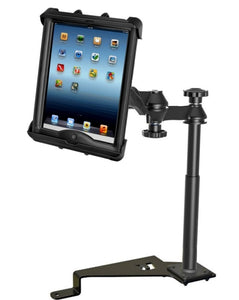 RAM No-Drill '15-'18 Ford F-150 Mount for Apple iPad 1 2 3 & 4 in LifeProof & Lifedge Case - Landloop