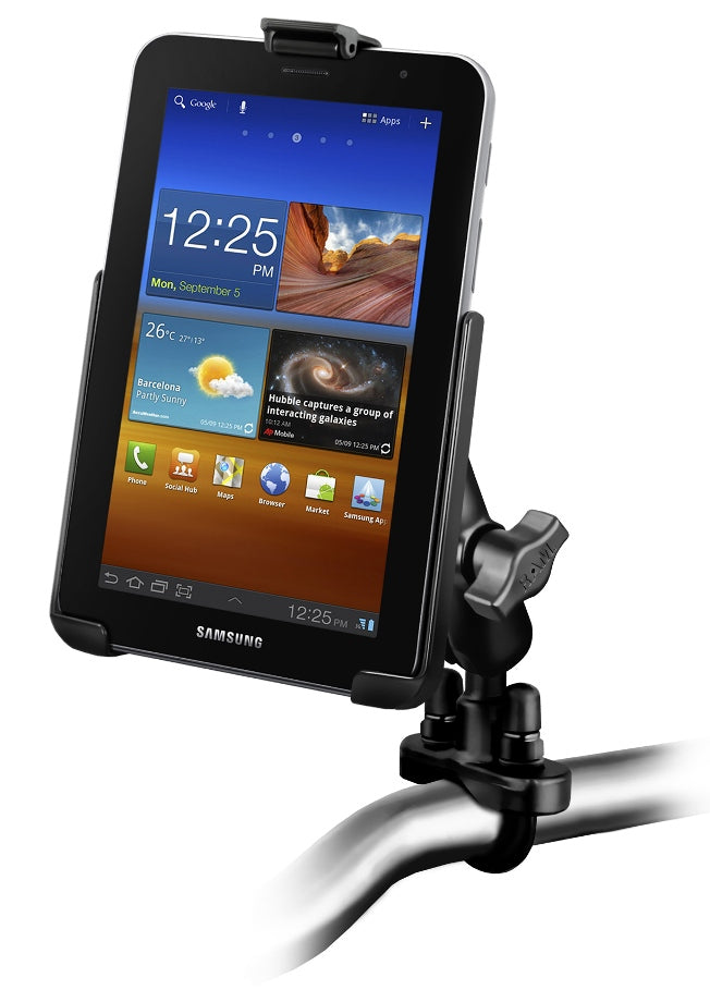 RAM Mounts RUGGED HEAVY DUTY MOTORCYCLE HANDLEBAR MOUNT FOR SAMSUNG GALAXY TAB 7.0 PLUS - landloop