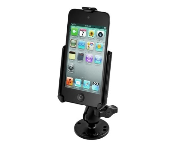 RAM Mounts SHORT Flat Surface Center Console Car Mount for Apple iPod touch 4th Generation - Landloop