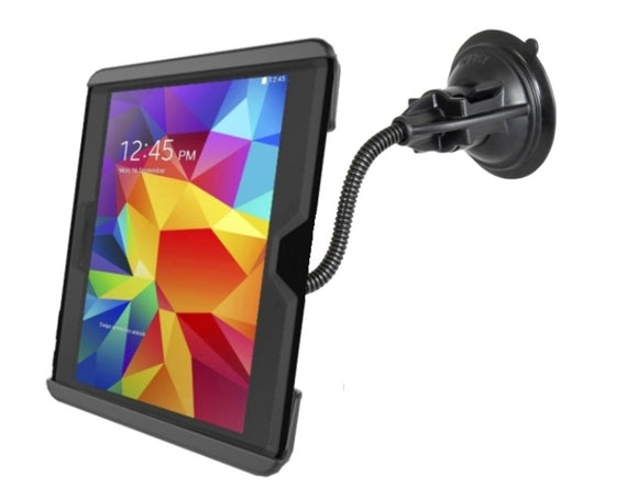 Flexible Suction Cup Window Mount fits Samsung Galaxy Tab 4 10.1 & Tab S 10.5 w/ Otterbox Defender Case & 10