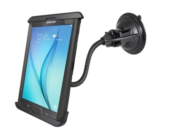 Flexible Suction Cup Mount fits Samsung Galaxy Tab A 8.0 & Tab S2 w/ Otterbox Defender Case & 8