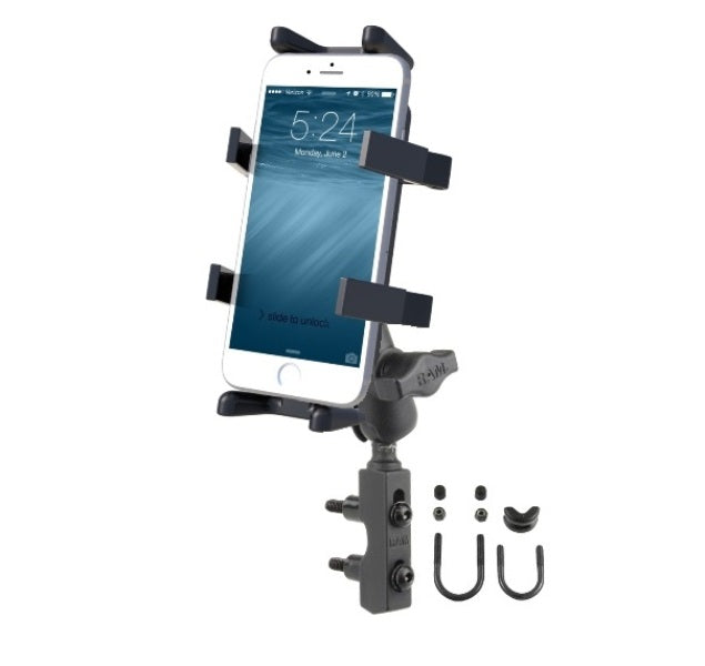 RAM Brake Clutch Short Arm Motorcycle Mount Holder for Cell Phones Smartphones - landloop