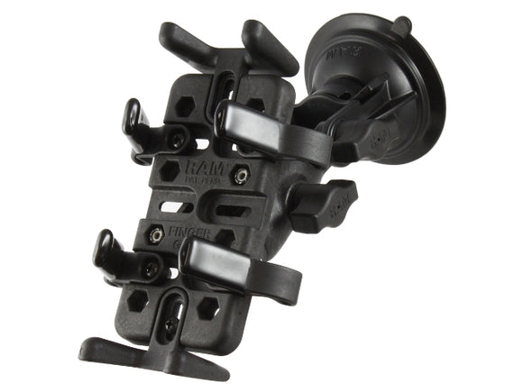 RAP-B-104-224-UN4U RAM Finger-Grip Universal Car Vehicle Mount with RAM Twist-Lock Suction Cup - landloop