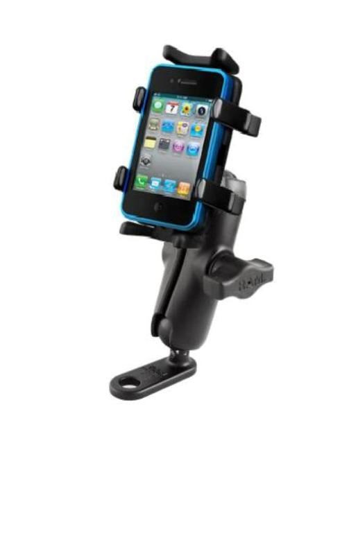 NEW 11MM FLAT BASE MOTORCYCLE MOUNT FOR CELL PHONES & SMARTPHONE MOBILE DEVICES - Landloop
