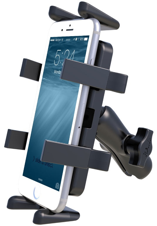 RAP-HOL-UN4-201U RAM Mounts Universal Smarphone Cradle w/ Double Socket Arm & Diamond Base Adapter - Landloop