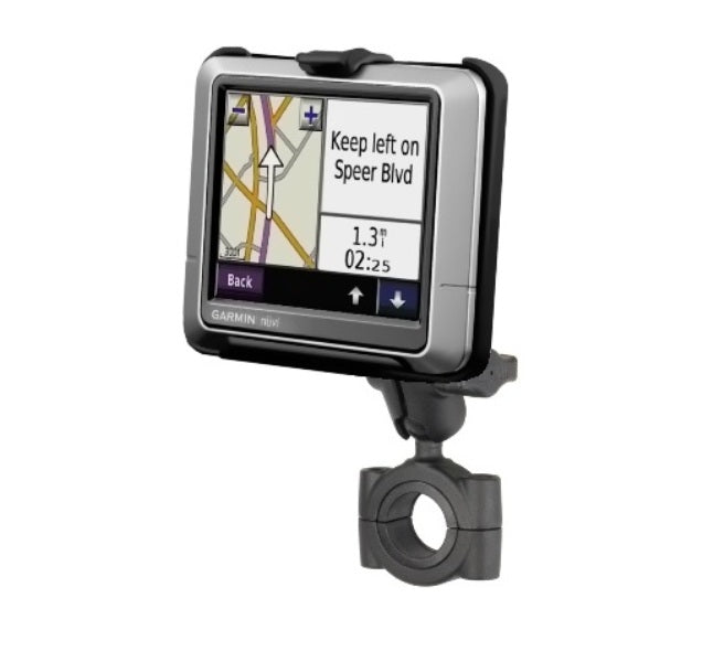 "RAM Torque 1 1/8"" - 1 1/2"" Short Arm Bike Mount for Garmin nuvi 200 205 250 255 260 265T 270 - Landloop"