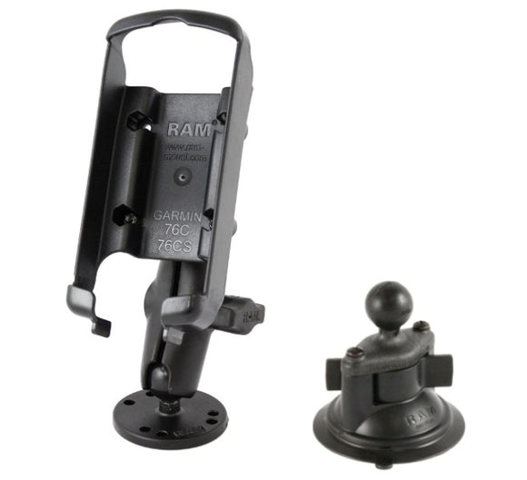 Flat Surface + Suction Cup Mount for Garmin GPSMAP 76C 76CS 76CSx 76Cx 96 96C - Landloop