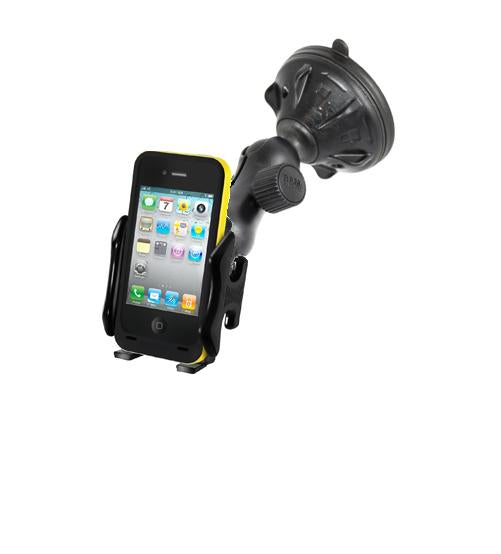 NEW RUGGED WINDSHIELD SUCTION CUP UNIVERSAL MOUNT FOR CELL PHONES IPHONES IPODS Apple iPhone 3G 3GS 4 4S 5 5th - landloop