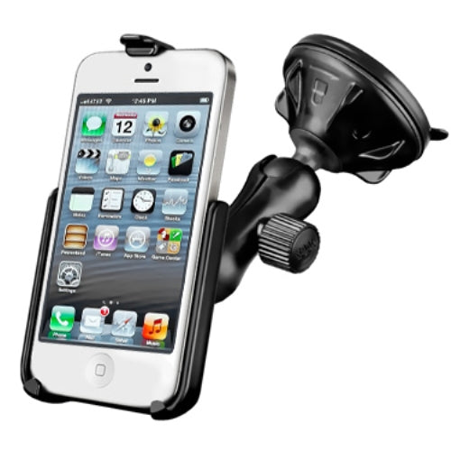 RAM Rugged Suction Cup Car Suv Windshield Mount Holder for Apple iPhone 5 5S & SE - Landloop