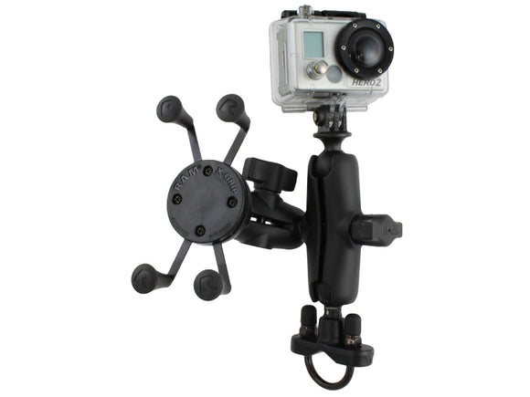 RAM Mounts Motorcycle Mount w/ GoPro Adapter X-Grip Cradle & 1