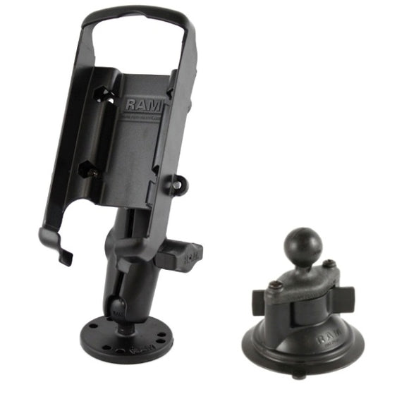 Flat Surface + Suction Cup Car Mount Kit for Garmin GPS 72 76 96 GPSMAP 72 & 76S - Landloop