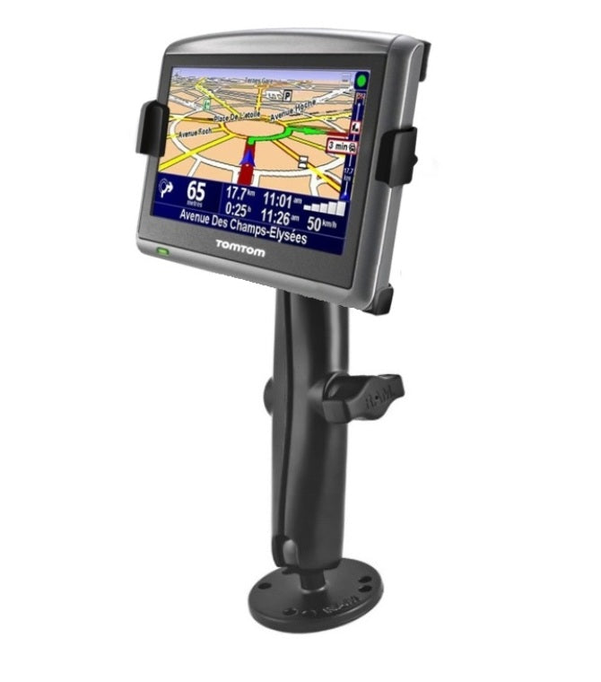 Flat Surface Long Arm Drill Down Mount Holder Kit fits Gps TomTom ONE XL & XLS - landloop