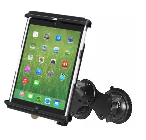 Double Suction Cup Windshield Mount Holder w/ Locking Cradle for Apple iPad mini - landloop