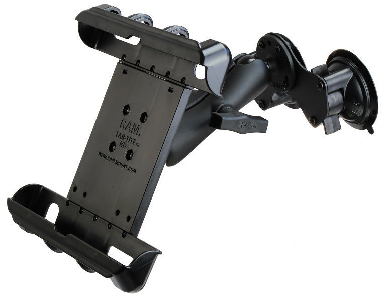RAM-HOL-TAB17-189BU RAM Tab-Tite Double Suction Cup Mount Holder fits Apple iPad 1 2 3 & 4 - Landloop